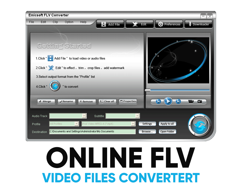 convert .flv to mp4