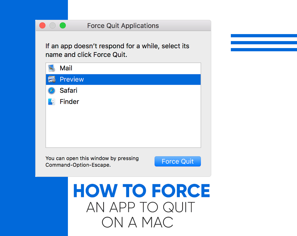 how to force quit a program on mac