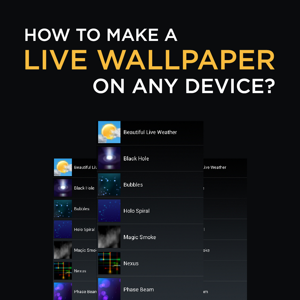 How To Make A Live Photo Wallpaper