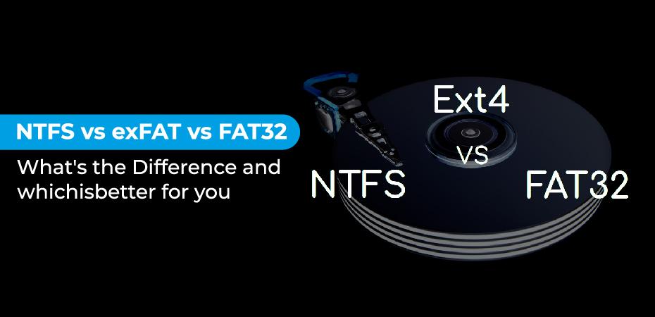 Exfat Vs Fat32 Vs Ntfs
