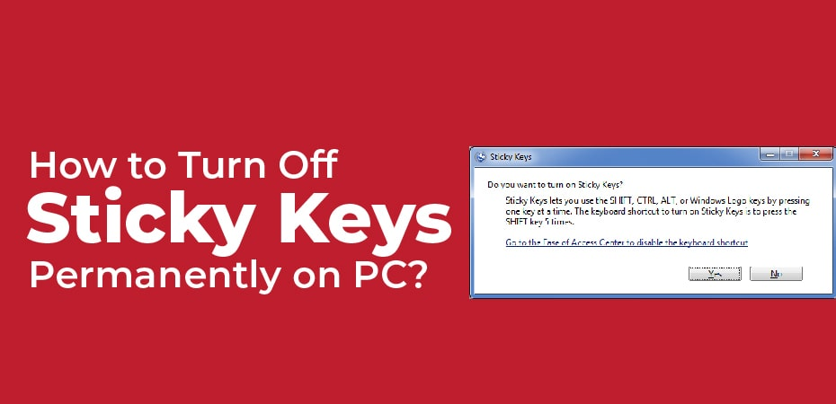 How To Turn Off Sticky Keys Notification